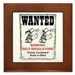 Wanted: Regulators Framed Tile