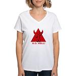 AO hell Women's V-Neck T-Shirt