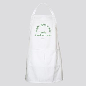 I Think, Therefore I Carve BBQ Apron