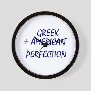 Greek American Wall Clock