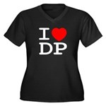 I heart DP Women's Plus Size V-Neck Dark T-Shirt