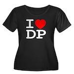 I heart DP Women's Plus Size Scoop Neck Dark T-Shi