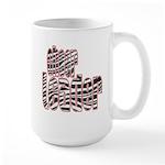 Zebra Cheerleader Large Mug