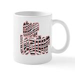 Zebra Cheerleader Mug
