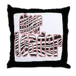 Zebra Cheerleader Throw Pillow