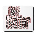 Zebra Cheerleader Mousepad