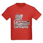 Zebra Cheerleader Kids Dark T-Shirt