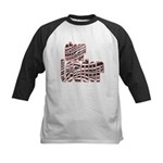 Zebra Cheerleader Kids Baseball Jersey
