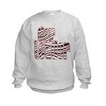 Zebra Cheerleader Kids Sweatshirt