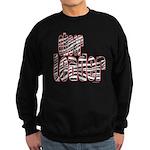 Zebra Cheerleader Sweatshirt (dark)
