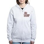 Zebra Cheerleader Women's Zip Hoodie