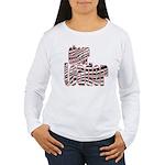 Zebra Cheerleader Women's Long Sleeve T-Shirt