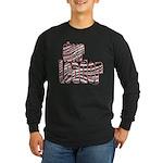 Zebra Cheerleader Long Sleeve Dark T-Shirt
