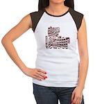 Zebra Cheerleader Women's Cap Sleeve T-Shirt