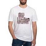 Zebra Cheerleader Fitted T-Shirt