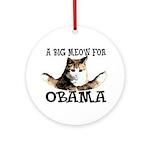 Meow for Obama Ornament (Round)