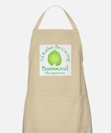 Rather Be Carving Basswood 2 BBQ Apron