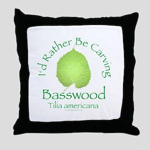 Rather Be Carving Basswood 2 Throw Pillow