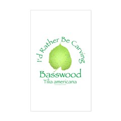 Rather Be Carving Basswood 2 Rectangle Decal