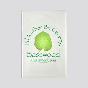 Rather Be Carving Basswood 2 Rectangle Magnet