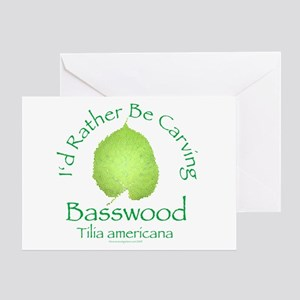 Rather Be Carving Basswood 2 Greeting Card