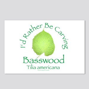 Rather Be Carving Basswood 2 Postcards (Package of