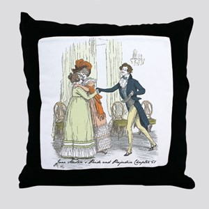 Pride and Prejudice Chapter 5 Throw Pillow