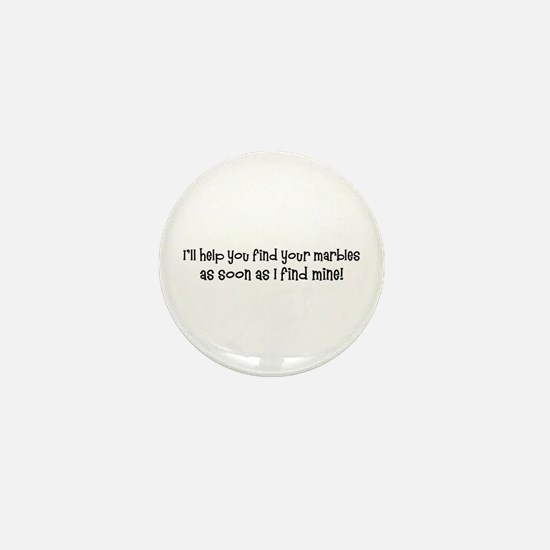 Psych-Finding Marbles Mini Button
