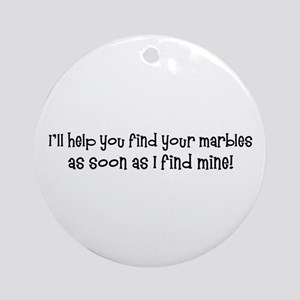 Psych-Finding Marbles Ornament (Round)
