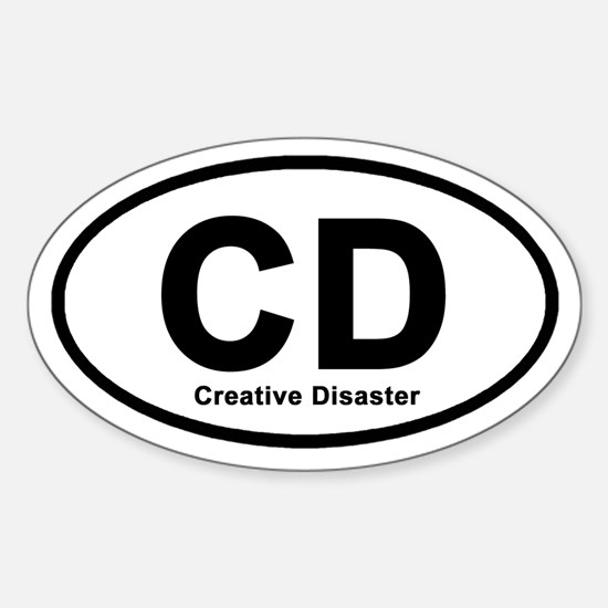 Creative Disaster Oval Decal
