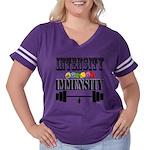 Bodybuilding In Women's Plus Size Football T-Shirt