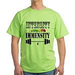 Bodybuilding Intensity Builds Immens Green T-Shirt