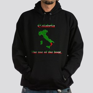 Calabria, the toe of the boot Hoodie (dark)