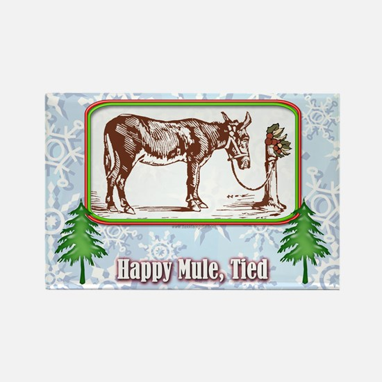 Happy Mule, Tied... Rectangle Magnet