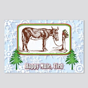 Happy Mule, Tied... Postcards (Package of 8)