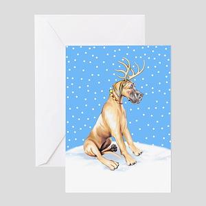 Great Dane Deer Fawn UC Greeting Card