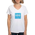 I only fuck girls who Women's V-Neck T-Shirt