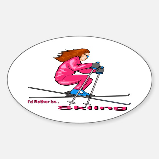 IRB Skiing (woman) Oval Decal