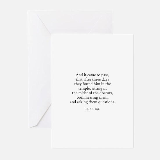 LUKE  2:46 Greeting Cards (Pk of 10)