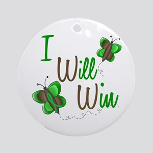 I Will Win 1 Butterfly 2 GREEN Ornament (Round)
