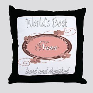 Cherished Nana Throw Pillow