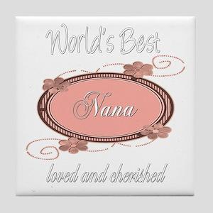 Cherished Nana Tile Coaster
