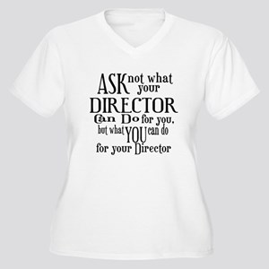 Ask Not Director Women's Plus Size V-Neck T-Shirt