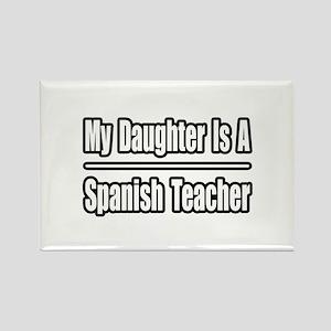 """""""Daughter..Spanish Teacher"""" Rectangle Magnet"""