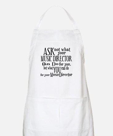 Ask Not Music Director BBQ Apron