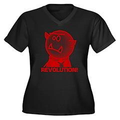 Redcloak: REVOLUTION! Women's Plus Size V-Neck Dar