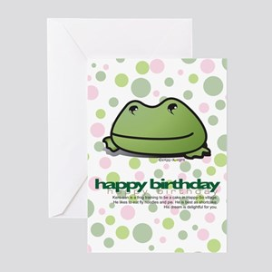 Delightful Birthday Frog Greeting Cards (Package o
