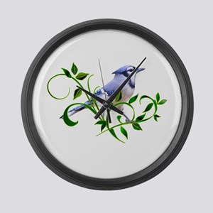 Blue Jay Large Wall Clock