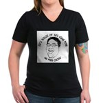 Ed's House of Porn Women's V-Neck Dark T-Shirt