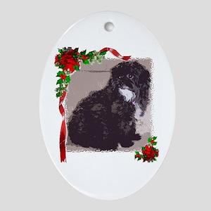 Shih Poo Oval Ornament